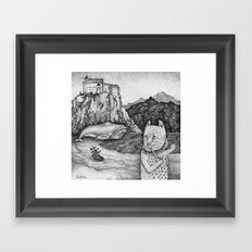 The Whale, The Castle & The Smoking Cat Framed Art Print