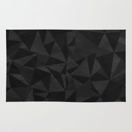 Dirty Dark Geo Rug