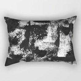 Minimal Black and White Rectangular Pillow