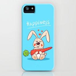Happy bunny iPhone Case