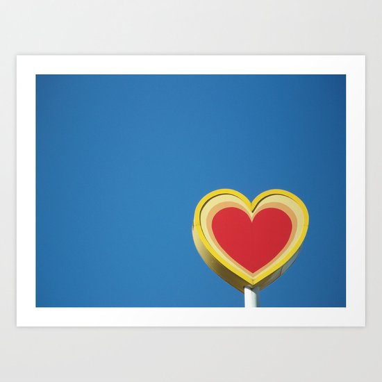*heart* Art Print