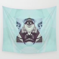salvador dali Wall Tapestries featuring salvador illuminat by KrisLeov