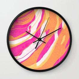 Watercolor abstract painting Wall Clock