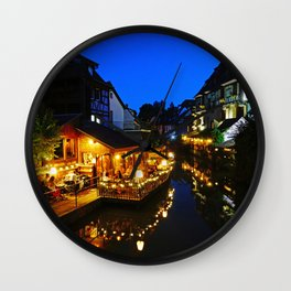 Colmar is still more beautiful in the night - Fine Arts Photography Wall Clock