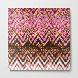 1000 Little Islands (ochre-pink) Metal Print