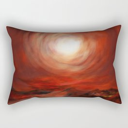 Tunnel through the sun Rectangular Pillow