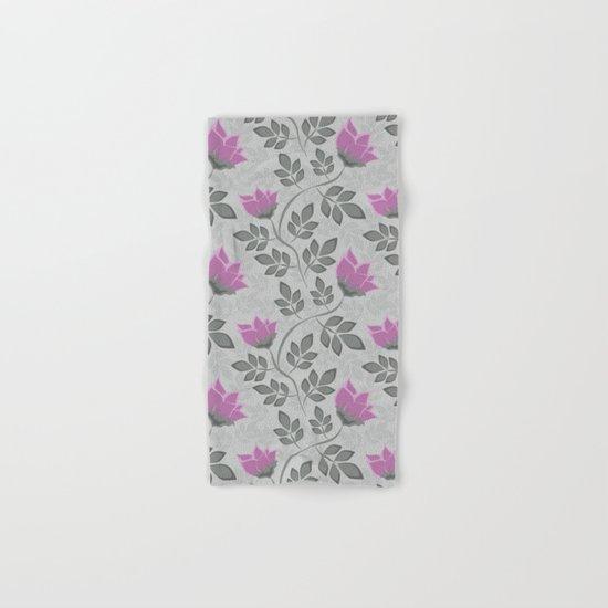 Liana purple flowers . Hand & Bath Towel