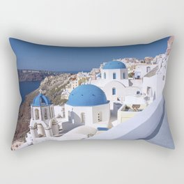 Oia Village in Santorini Rectangular Pillow