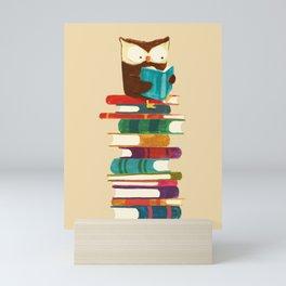 Owl Reading Rainbow Mini Art Print