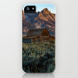 Wyoming - Moulton Barn and Grand Tetons iPhone Case