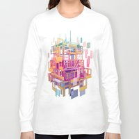 building Long Sleeve T-shirts featuring Building Clouds by FalcaoLucas