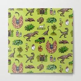 Jurassic pattern lighter Metal Print