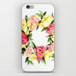 Peony Wreath iPhone Skin