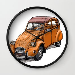 Orange 2CV Wall Clock