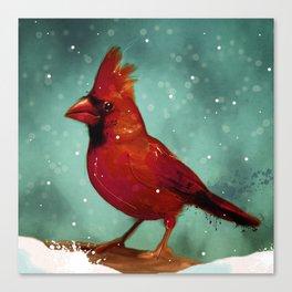 Cardinal snow Canvas Print