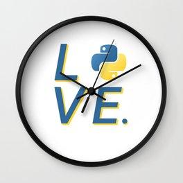 Python Love for Python Programmers Sticker Wall Clock