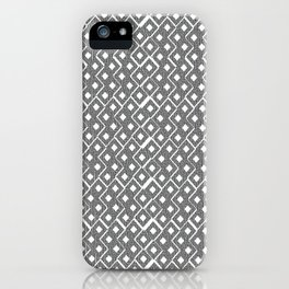 Gray and White Small Diamond Textured Minimal Simple Pattern Home Goods iPhone Case