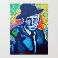 frank sinatra Canvas Prints featuring Frank Sinatra by camillustration
