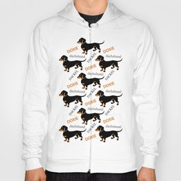 Black Tan Smooth Dachshund Hoody