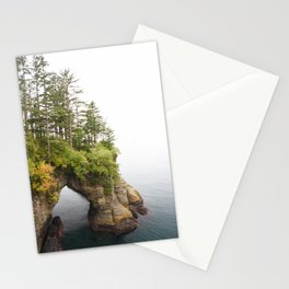 Cape Flattery Arch Ocean Rock Geology Washington Cliff Hiking Forest Trees Stationery Cards