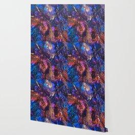 Blue Rainbow Oil Slick Crystals Wallpaper