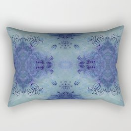 Kaleidoscope in azure Rectangular Pillow