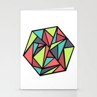 hexagon Stationery Cards featuring Hexagon by chrfahnestock