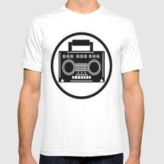 BoomBox Mens Fitted Tee MEDIUM White