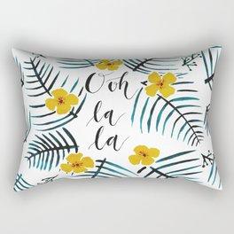 Tropical Leaves Ooh La La // Yellow Dark Green Palette Rectangular Pillow