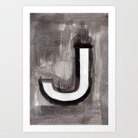 alt j Art Prints featuring - J - by Resistenza