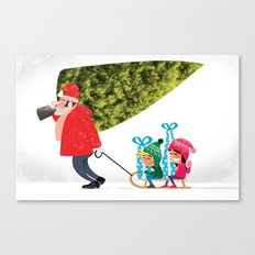 Buying the Christmas Tree Canvas Print