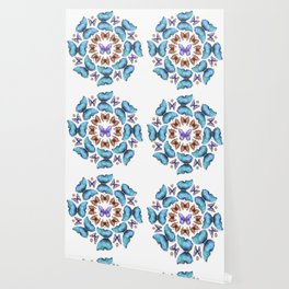 Butterfly Taxidermy 11 // Beautiful Mandala Detailed Wings Design // Blue Orange Purple Wallpaper