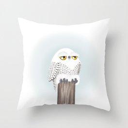 Snowy Owl (Canavians Series) Throw Pillow