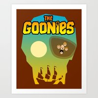 goonies Art Prints featuring The Goonies by tuditees