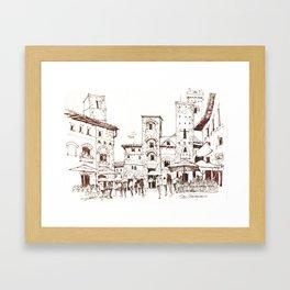 San Gimignano 1 Framed Art Print
