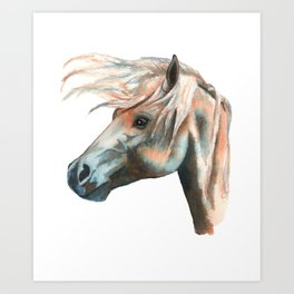 Wild Forelock Art Print