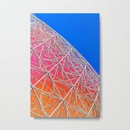 Rainbow Biosphere Mesh Metal Print