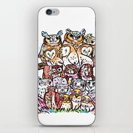 Owl family iPhone Skin