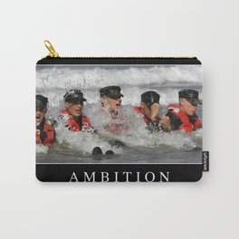 Ambition: Inspirational Quote and Motivational Poster Carry-All Pouch
