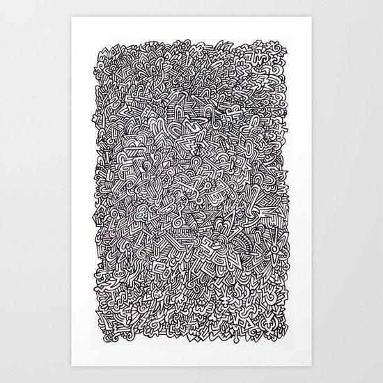Ballpoint Doodle Art Print