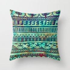 Noni- Green Throw Pillow