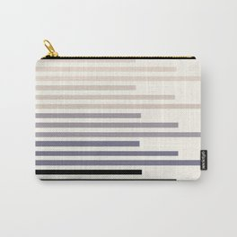Grey Taupe Geometric Minimalist Staggered Stripes Simple Mid Century Zen Art Carry-All Pouch