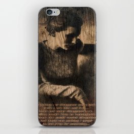 disappear until mourning.. iPhone Skin