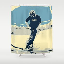 On the Rim - Scooter Boy Shower Curtain