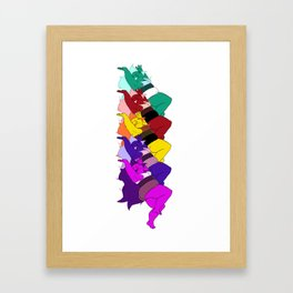 Amethyst Falling in a Cool Color Palette Framed Art Print