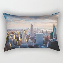 New York City at Sunset Rectangular Pillow