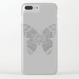 Embossed butterfly Clear iPhone Case