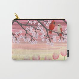 cardinals & tulips in spring Carry-All Pouch