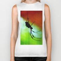 spider Biker Tanks featuring spider by lennyfdzz