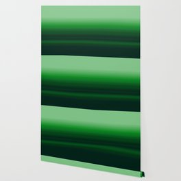 Emerald Green Stripe Design Wallpaper